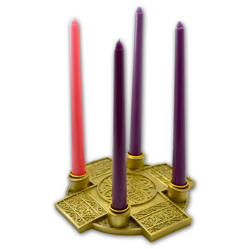 Cross Advent Candle Holder