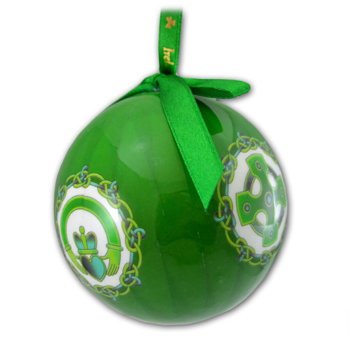 Symbols of Ireland Celtic Bauble Ornament