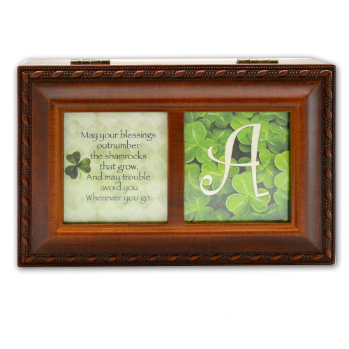 """Irish Lullaby"" Shamrock Music Box"