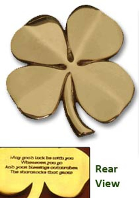 4 Leaf Clover in Brass