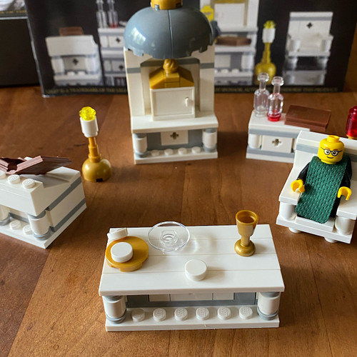 Father Leopold Celebrates Mass Religious Lego Set