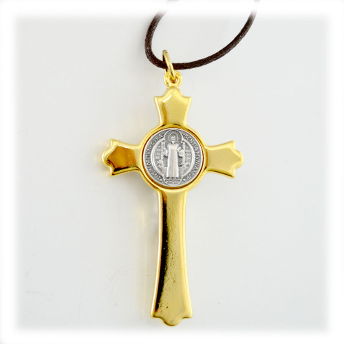 St. Benedict Cross Stretch Necklace