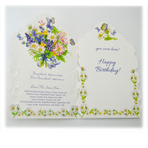 """""""Year of Birth """" Greeting Cards"""