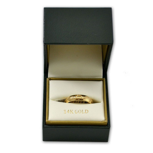 14k Women's Claddagh Wedding Band