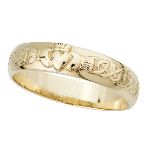 14k Men's Claddagh Wedding Band