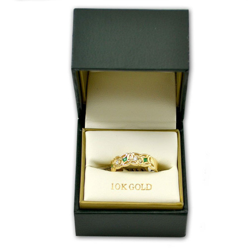 10k Trinity Knot Ring Irish-Made