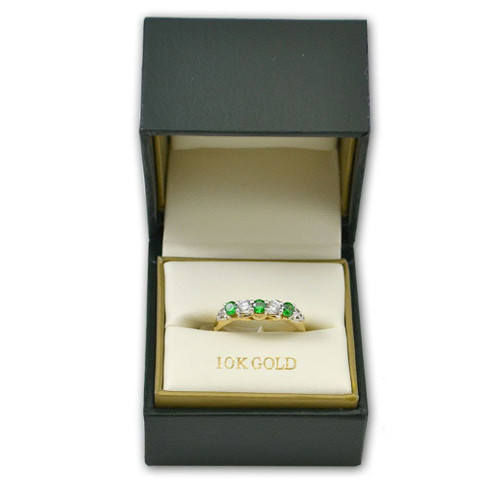 10k Claddagh Eternity Ring Irish-Made
