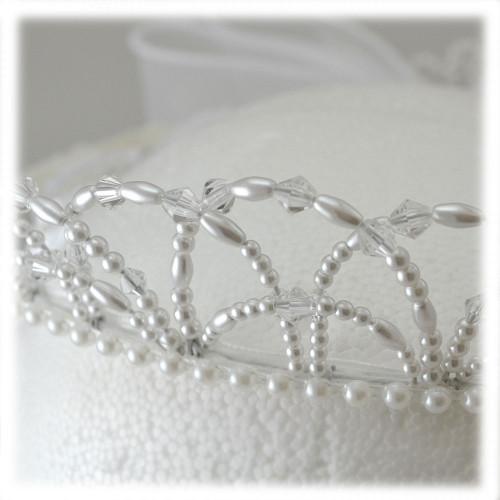 Communion Veil Pearl Crown