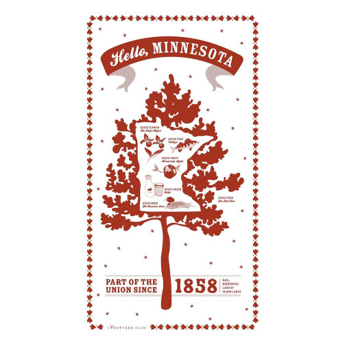 Large Minnesota State Tea Towels Asst.