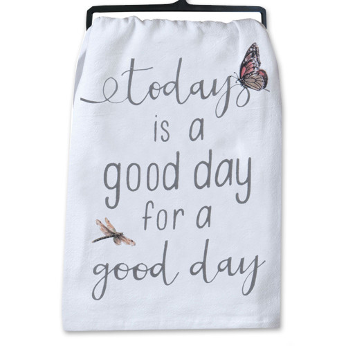Good Day or Give Thanks Towels 2Asst
