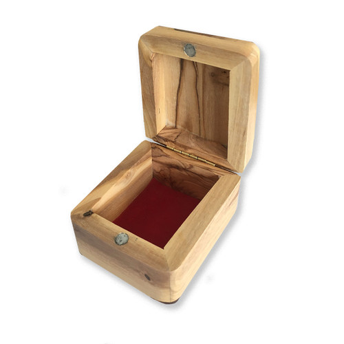 First Communion Olive Wood Rosary Box