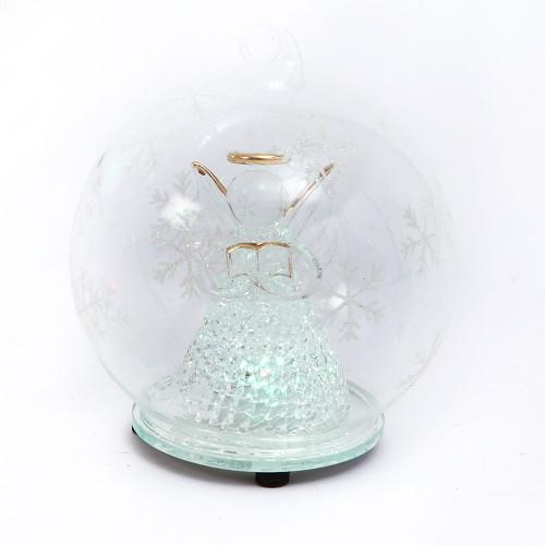 Angel Glass Globe Ornament 3Asst