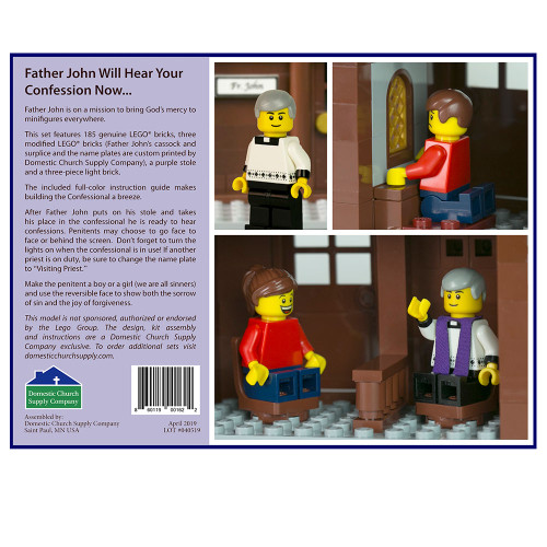 LEGO Confessional Set with Fr. John