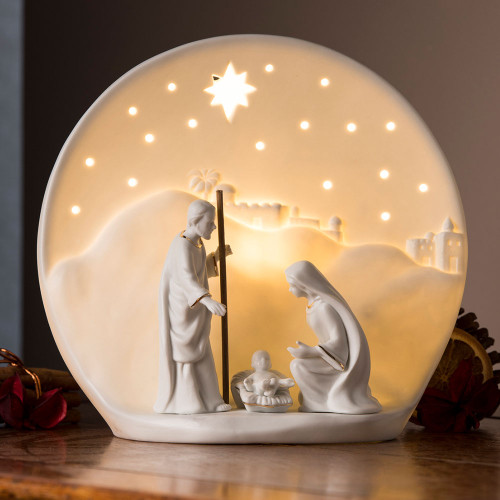Belleek Nativity Luminaire