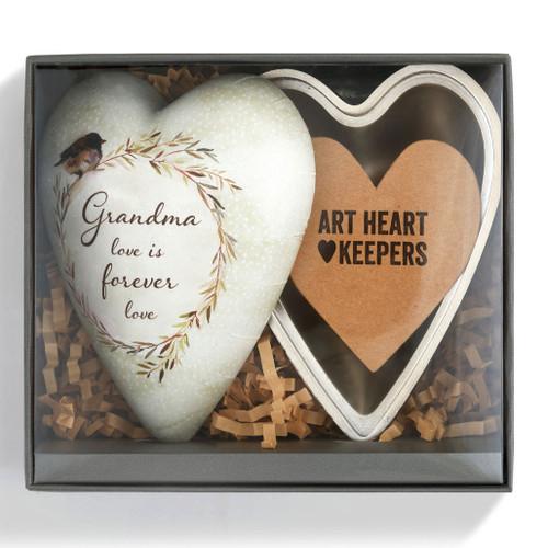 Grandma Art Heart Trinket Box