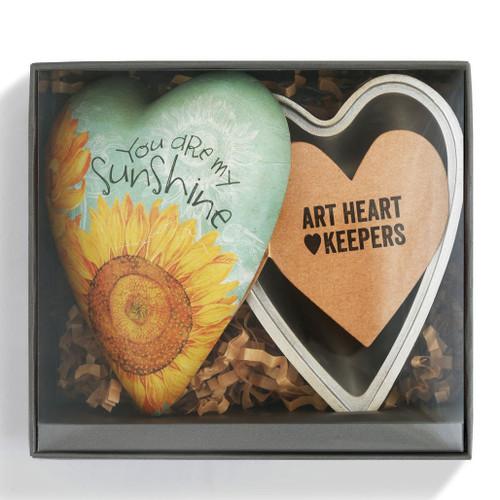 Sunshne Heart Art Trinket Box