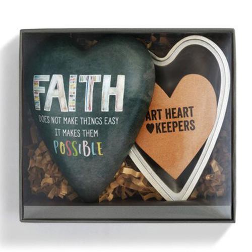 Faith Art Heart Trinket Box