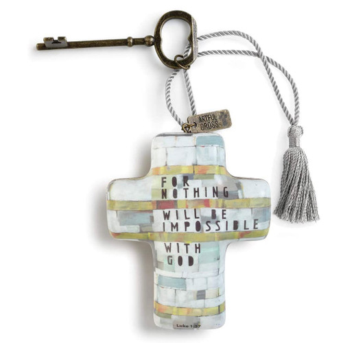 Artful Cross with Key 3 Styles - Sold Separately