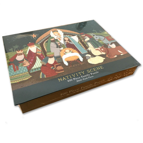 400 Pc Nativity Family Puzzle