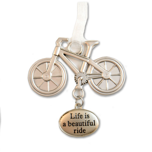 """Life is a Beautiful Ride"" Bicycle Charm"