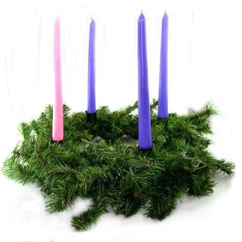 "Evergreen Advent Wreath 12"""