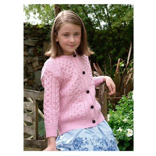 pink Irish cardigan for children