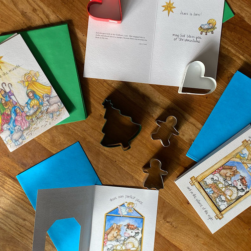 Nativity Scene Christmas Card Set