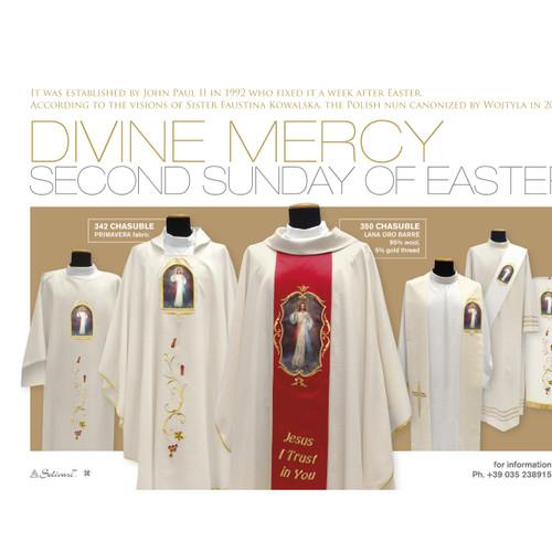 342 Divine Mercy Dalmatic in Primavera