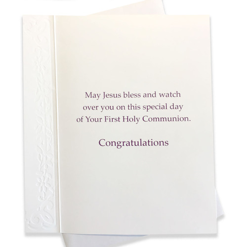 Inside of First Communion Card for Grandson