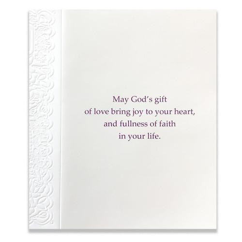 Godchild Baptism Card