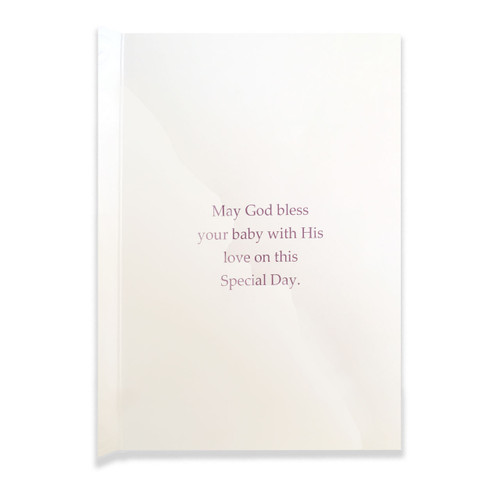 Baptism Card for a Baby Girl