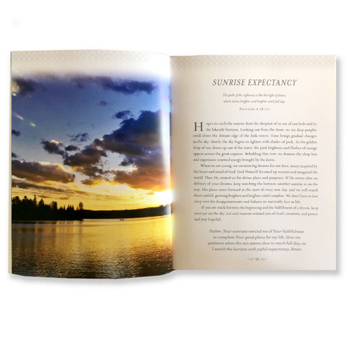 Inside pages of Devotions from the Lake book