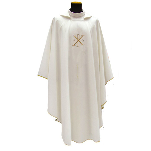 654 Lightweight Chasuble in Mixed Linen