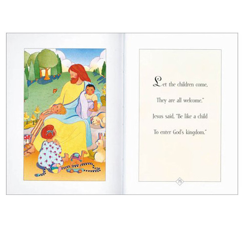 Inside pages of Her First Bible Little Stories for Little Hearts by Melody Carlson