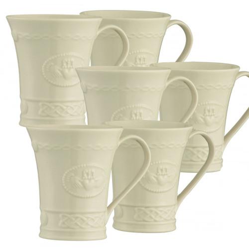 Belleek Claddagh Mug Set of 6