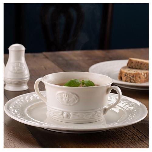 Belleek Claddagh Soup Bowl