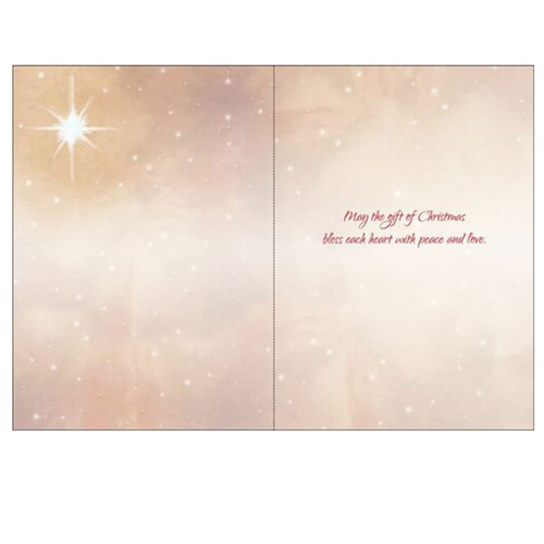 Inside of the Nativity Scene Boxed Cards and message
