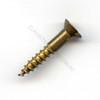 Wood Screw Countersunk Slot Brass