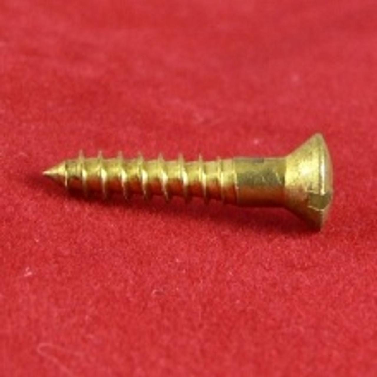 Wood Screw Raised Slot Brass