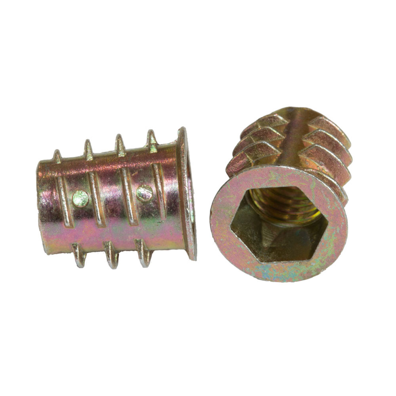 M10 THREADED HEX DRIVE FIXING TYPE D TIMBER WOOD INSERT FURNITURE NUTS FASTENERS