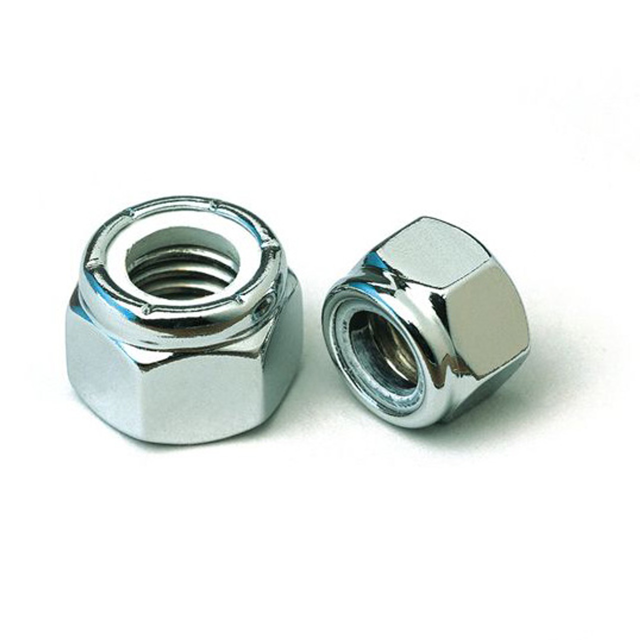 1/4 - 28 UNF Chrome Nylon Insert Lock Nut