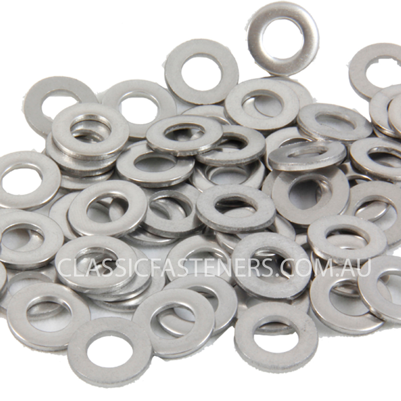 Flat round stainless washer