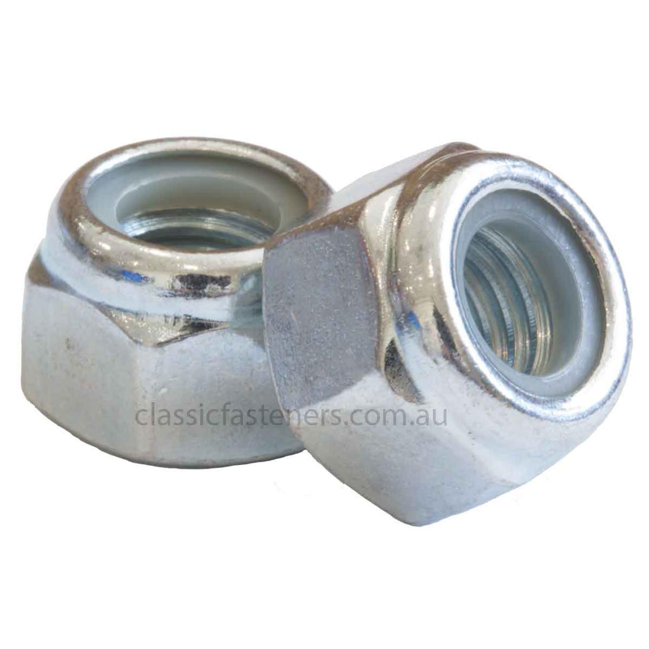 3/8 - 16 UNC Nylon Insert Lock Nut Class C Zinc
