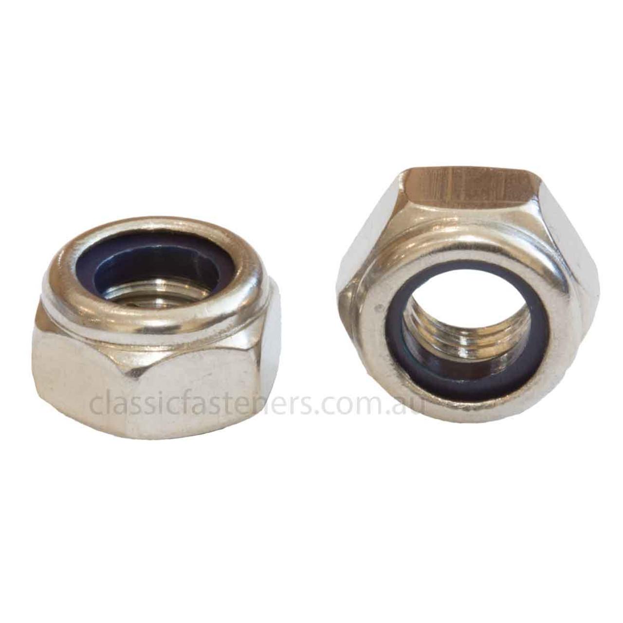 M4 Nylon insert lock nut stainless steel 316