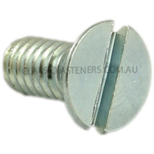 Countersunk Slotted Zinc : 12-24 UNC x 1/2