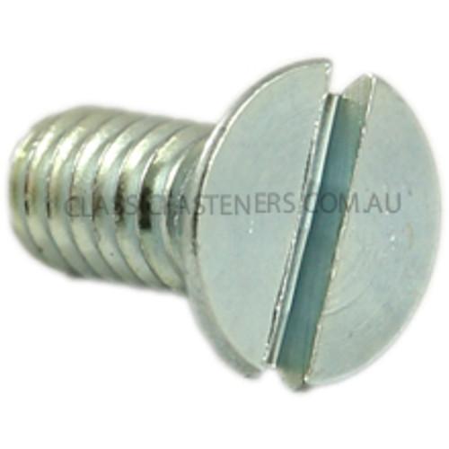 Countersunk Slotted Zinc : 12-24 UNC x 1/2