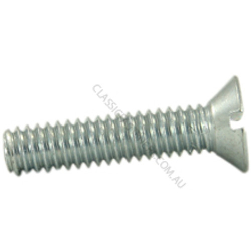 Countersunk Slotted Zinc : 12-24 UNC x 1