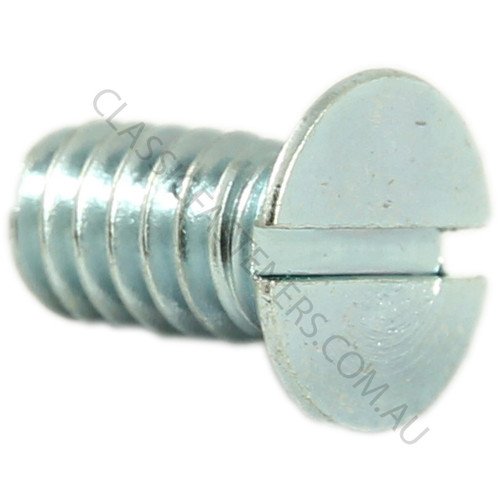 Countersunk head, steel, zinc, slot, 3/16 BSW