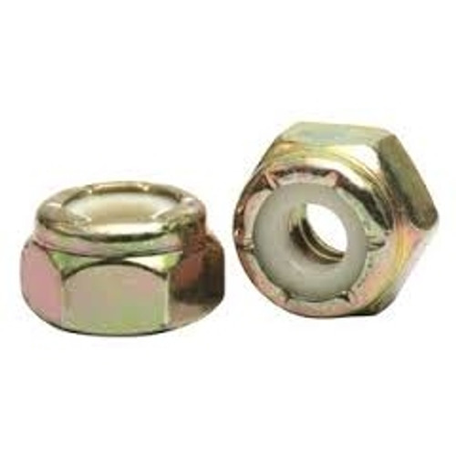 Nylon Insert Lock Nut Zinc M8 (1.00mm) Metric Fine, Thin Type