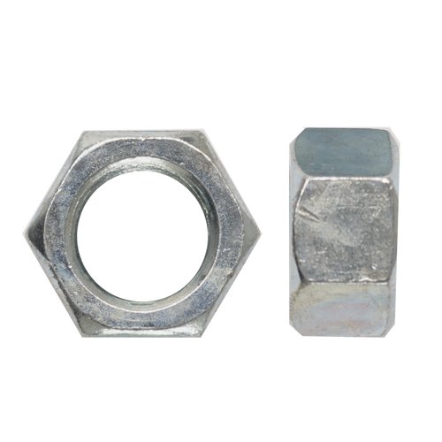 Hex Nut Zinc: M10 (1.25 Fine) x 14mm AF
